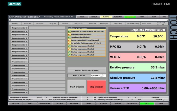 Advanced furnace control with HMI and PLC systems - Carbolite Gero
