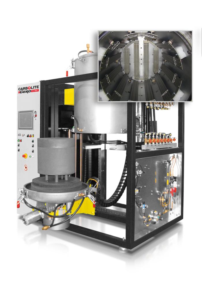 vacuum furnace with bottom loading mechanism carbolite gero